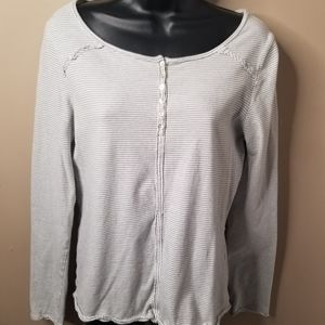 Sundance striped mother of pearl button sweater